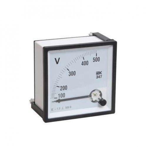 Вольтметр Э47 72х72мм 600В кл. точн. 1.5 ИЭК IPV10-6-0600-E