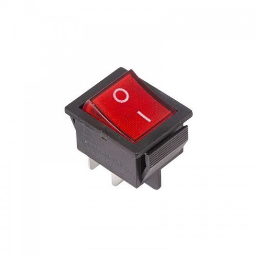 Выключатель клавишный 250В 16А (4с) ON-OFF красн. с подсветкой (RWB-502; SC-767; IRS-201-1) Rexant 36-2330