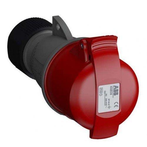 Розетка кабельная 32А 3Р+N+E IР44 переносная 415В Easy&Safe