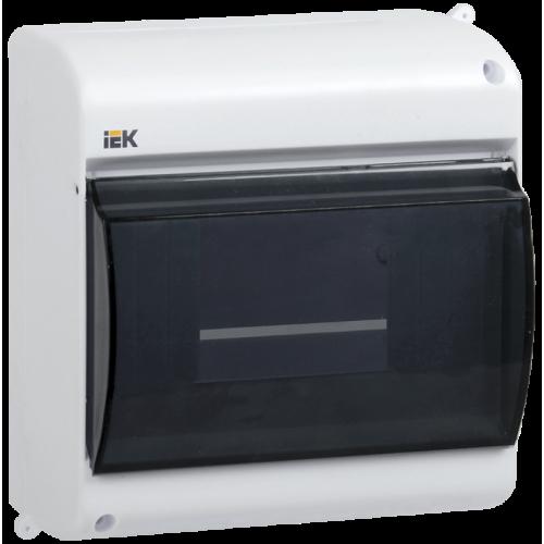 Щит распределительный навесной ЩРн-П-6 IP30 пластиковый белый прозрачная дверь КМПн 2/6