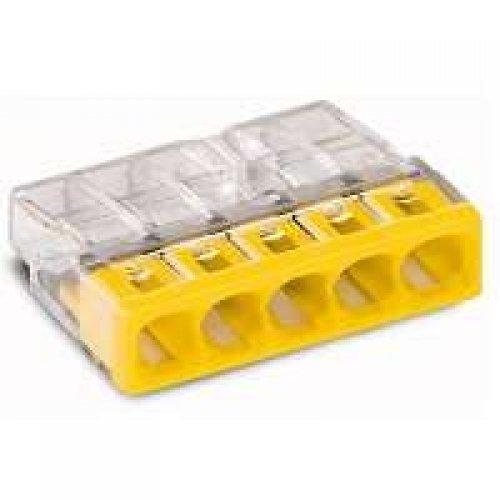 Клемма 5x2.5мм желтая/прозрачная (100шт)