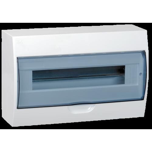 Щит распределительный навесной ЩРн-П-18 IP41 пластиковый белый прозрачная дверь
