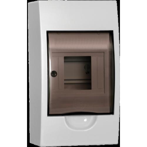Щит распределительный навесной ЩРн-П-4 IP41 пластиковый белый прозрачная дверь