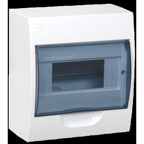 Щит распределительный навесной ЩРн-П-8 IP41 пластиковый белый прозрачная дверь
