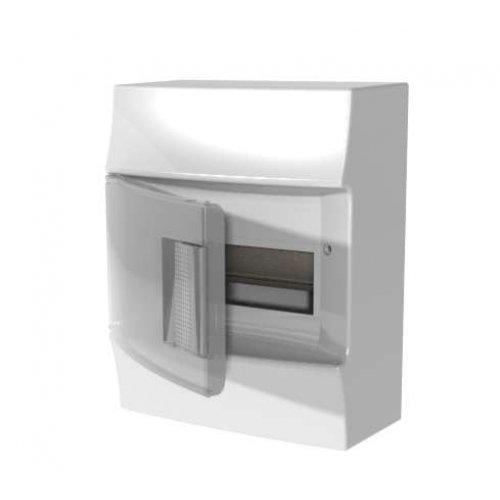 Щит распределительный навесной ЩРн-п Mistral41 8М пластиковый прозрачная дверь с клеммами