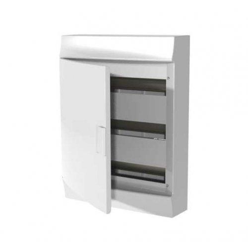 Щит распределительный навесной ЩРн-п Mistral41 54М пластиковый непрозрачная дверь с клеммами