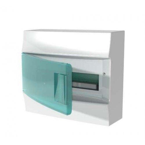 Щит распределительный навесной ЩРн-п Mistral41 12М пластиковый зеленая дверь без клемм