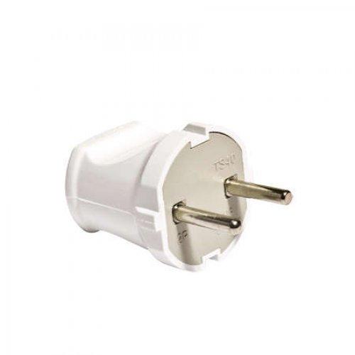 Вилка электрич. без заземл. бел. 6А 250В (еврослот) UNIVersal А113