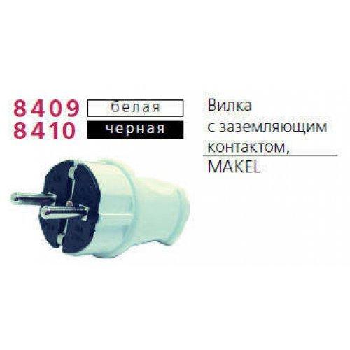 Вилка электрическая с заземл. черн. Makel 10052
