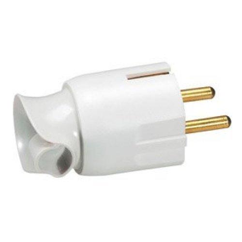 Вилка электрич. каб. Helium 16А 2P+E поворот. бел. Leg 050172