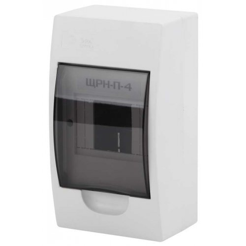 Бокс ЩРН-П-4 мод. навесной пластик IP41 SIMPLE NO-box_simple-plastic_4_surface ЭРА Б0041521