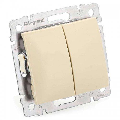 Механизм выключателя 2-кл. СП Valena сл. кость инд. упак. (DIY-упак) Leg 695605