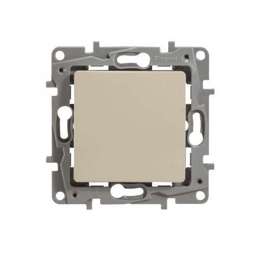 Механизм выключателя 1-кл. СП Etika 10А IP20 250В авт. клеммы сл. кость Leg 672301