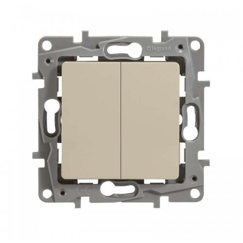 Механизм выключателя 2-кл. СП Etika 10А IP20 250В авт. клеммы сл. кость Leg 672302