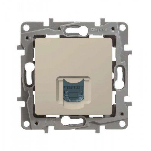 Механизм розетки информ. 1-м СП Etika RJ45 CAT.5 UTP сл. кость Leg 672341