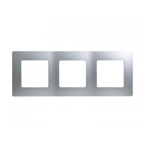 Рамка 3-м Etika алюм. Leg 672553