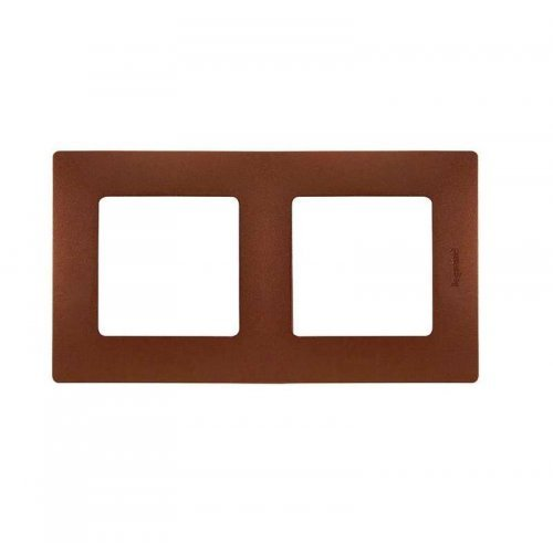 Рамка 2-м Etika какао Leg 672572