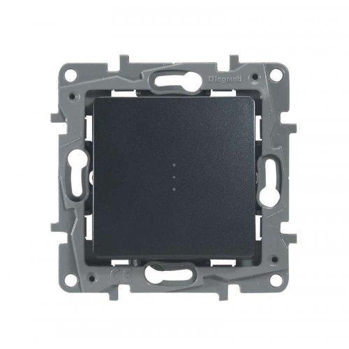 Механизм выключателя проходной 1-кл. СП Etika 10А IP20 с подсветкой авт. антрацит Leg 672615