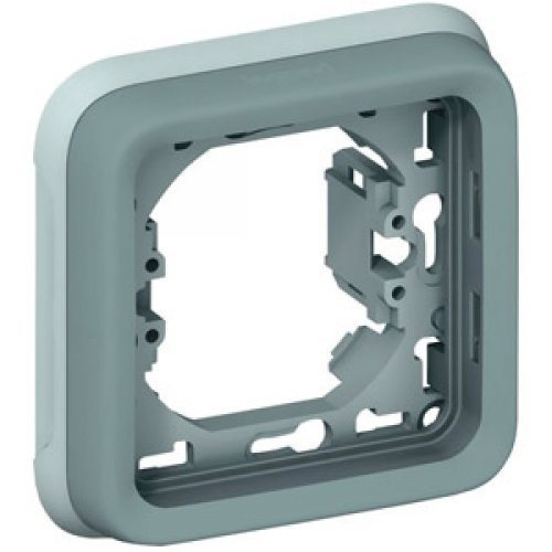 Рамка 1-м Plexo с суппортом сер. Leg 069681