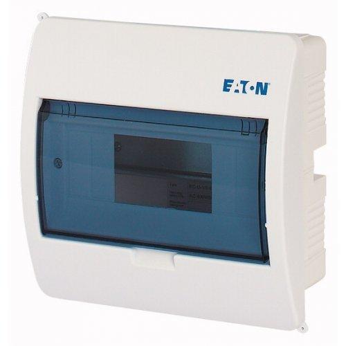 Щит компактный встроенного исполнения 1ряд 8-мод. BC-U-1/8-ECO прозр. дверь пластик EATON 280353