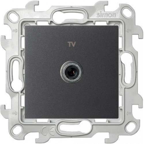 Механизм ТВ розетки 1-м Simon24 графит 2450477-038