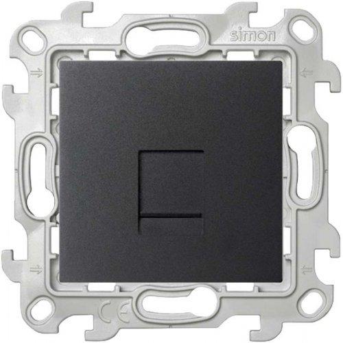 Механизм розетки телефонной RJ11 Simon24 графит 2410480-038