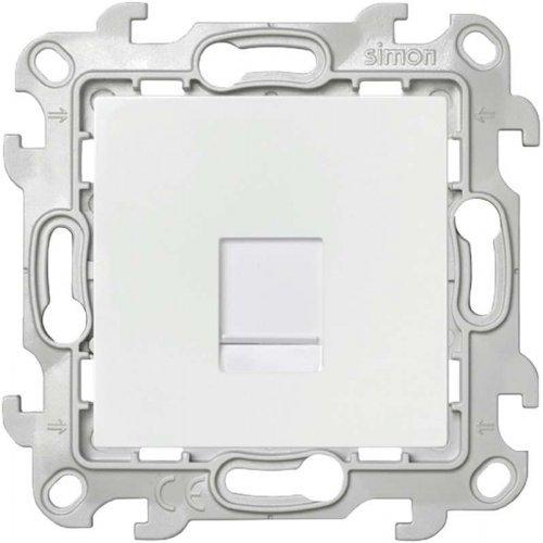 Механизм розетки RJ45 кат. 5e UTP Simon24 бел. 2410598-030