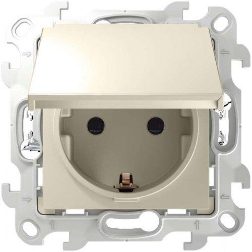 Механизм розетки 2К+З IP44 Push&Go Simon24 сл. кость 2420448-031