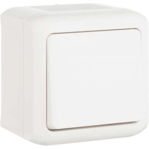 Выключатель 1-кл. ОП Quteo 10А IP44 10АХ бел. Leg 782300