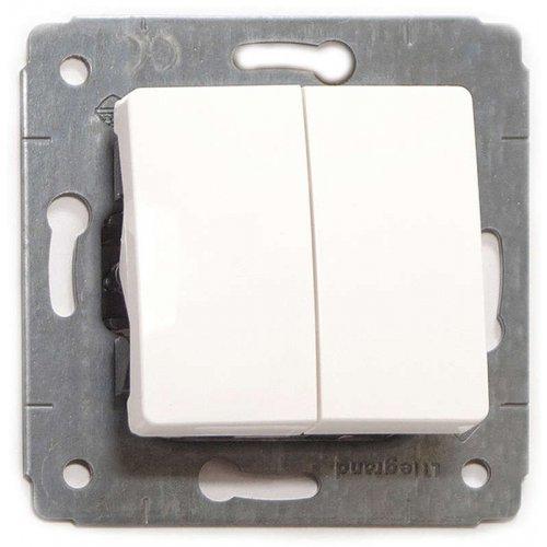 Механизм выключателя 2-кл. СП CARIVA 10А IP20 бел. Leg 773658