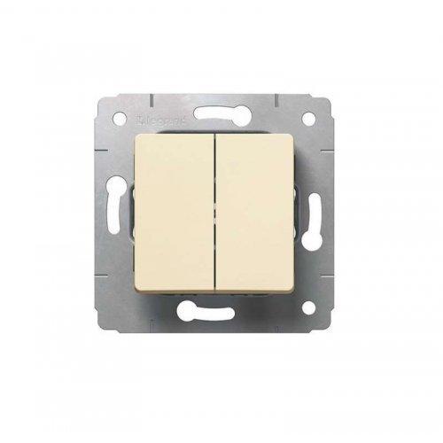 Механизм выключателя 2-кл. СП CARIVA 10А IP20 сл. кость Leg 773758