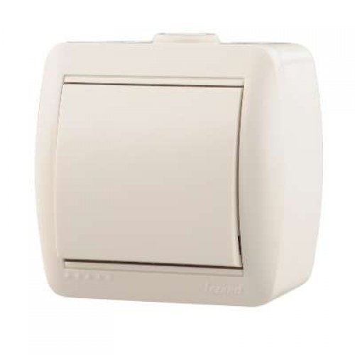 Выключатель 1-кл. ОП Ната 10А IP20 бел. LEZARD 710-0200-100