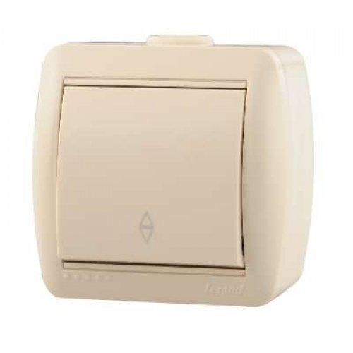 Выключатель проходной 1-кл. ОП Ната 10А IP20 крем. LEZARD 710-0300-105