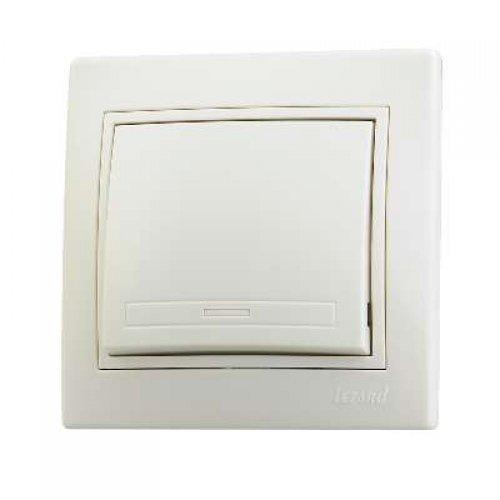 Выключатель 1-кл. СП Мира 10А IP20 крем./крем. LEZARD 701-0303-100