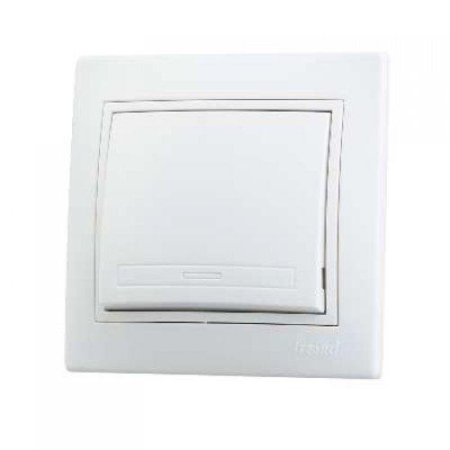 Выключатель 1-кл. СП Мира 10А IP20 бел./бел. LEZARD 701-0202-100