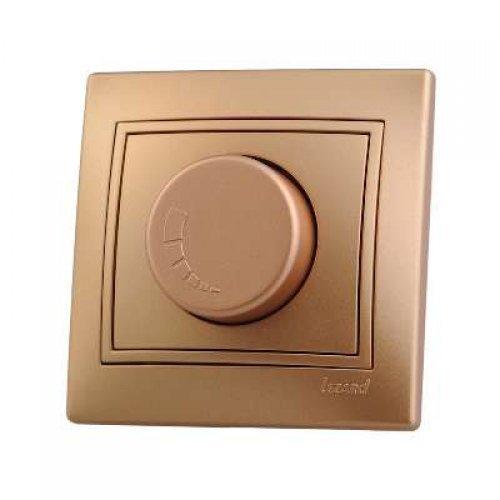 Светорегулятор СП 800Вт Мира метал. зол. Lezard 701-1313-115