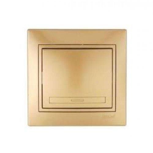 Выключатель 1-кл. СП Мира 10А IP20 метал. зол. LEZARD 701-1313-100