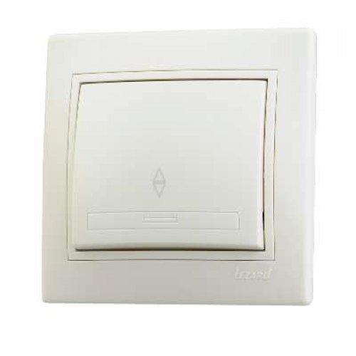 Выключатель проходной 1-кл. СП Мира 10А IP20 крем./крем. LEZARD 701-0303-105