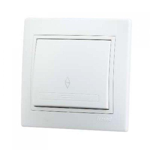 Выключатель проходной 1-кл. СП Мира 10А IP20 бел./бел. LEZARD 701-0202-105