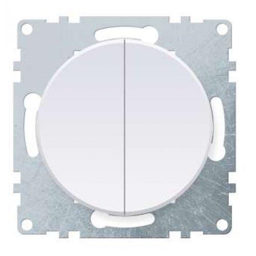 Механизм выключателя 2-кл. СП Florence 10А IP20 бел. OneKeyElectro 2172776