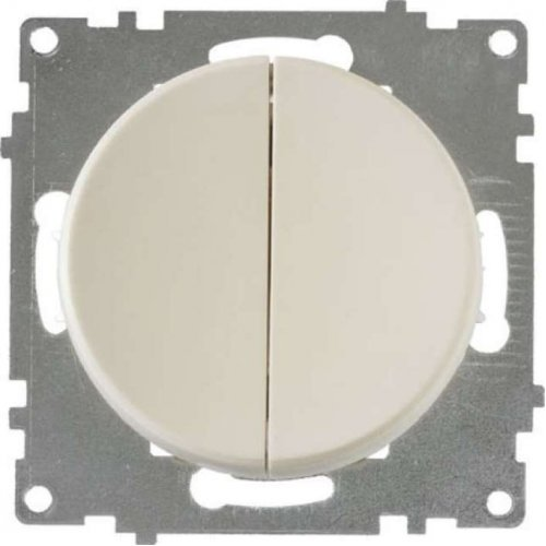Механизм выключателя 2-кл. СП Florence 10А IP20 беж. OneKeyElectro 2172799