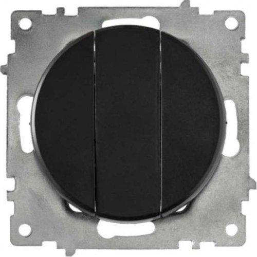 Механизм выключателя 3-кл. СП Florence 10А IP20 черн. OneKeyElectro 2172826