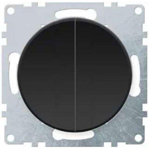 Механизм выключателя 2-кл. СП Florence 10А IP20 черн. OneKeyElectro 2172822