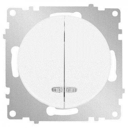 Механизм выключателя 2-кл. СП Florence 10А IP20 с подсветкой бел. OneKeyElectro 2172779