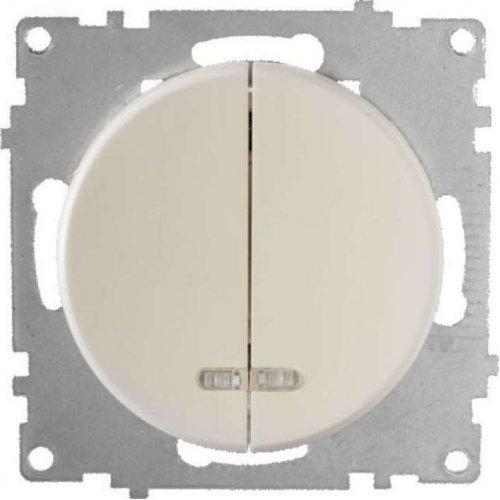Механизм выключателя 2-кл. СП Florence 10А IP20 с подсветкой беж. OneKeyElectro 2172802