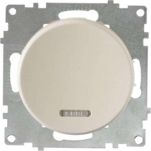 Механизм выключателя 1-кл. СП Florence 10А IP20 с подсветкой беж. OneKeyElectro 2172801