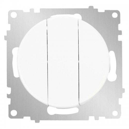 Механизм выключателя 3-кл. СП Florence 10А IP20 бел. OneKeyElectro 2172780