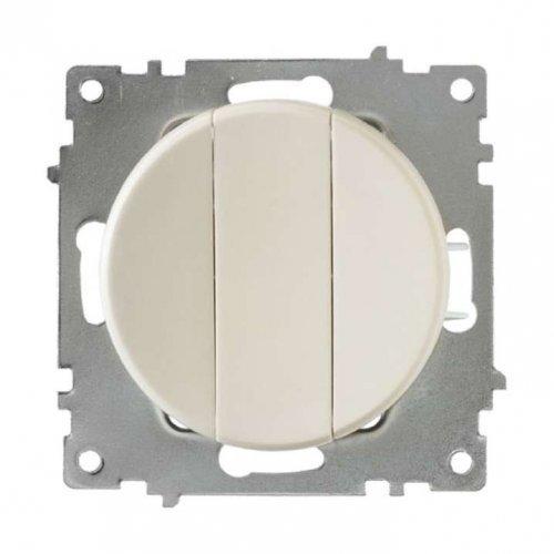 Механизм выключателя 3-кл. СП Florence 10А IP20 беж. OneKeyElectro 2172803