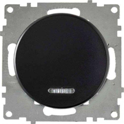 Механизм выключателя 1-кл. СП Florence 10А IP20 с подсветкой черн. OneKeyElectro 2172824