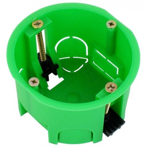 Коробка установочная 68х45мм пластиковые лапки ГИПРОК